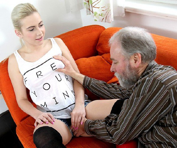 OldGoesYoung: Olga - Olga And Old Goes Young Guy Fuck In Storage Unit 720p