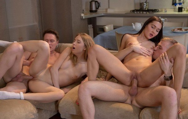 YongSexParties: Aziza, Debbie - Foursome Swinger Fuck Party 1080p