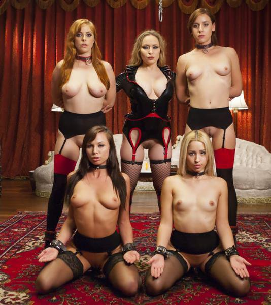 Kink: Aiden Starr, Penny Pax, Audrey Holiday, Goldie Rush, Aidra Fox - Sexy Anal Slaves Serve Holiday Orgy