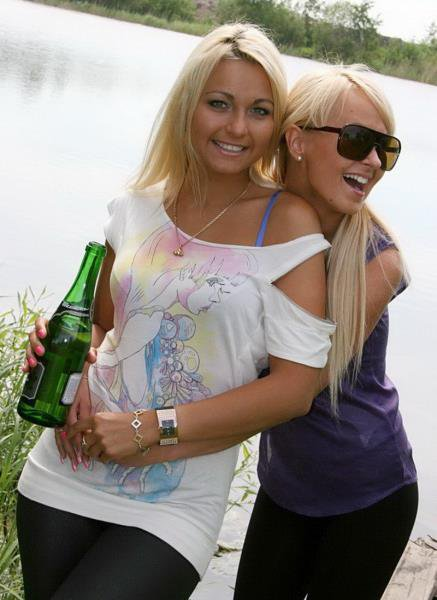 PickupTeen: Lioness And Amiee - Fuck With Drunk Student Russian Girl By Lake