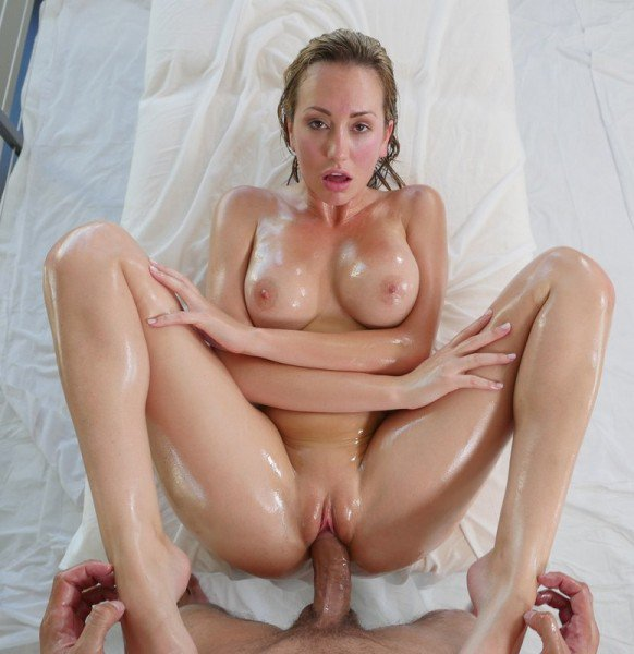 MassageGirls18: Brett Rossi - Wet Oil Mssage Wife