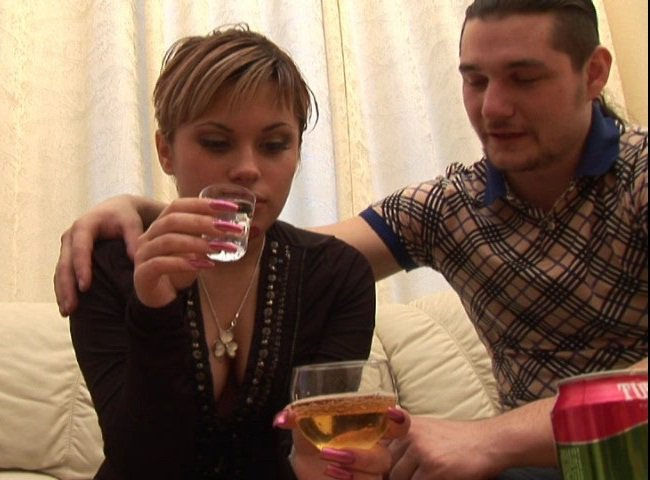 TheyDrunk: Tanya - Russian Girl Drinks Vodka and gets Fucked