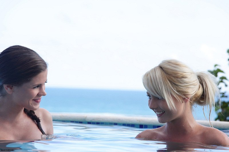 WowGirls: Little Caprice And Pinky June - Beautiful Teen Threesome In The Pool 1080p