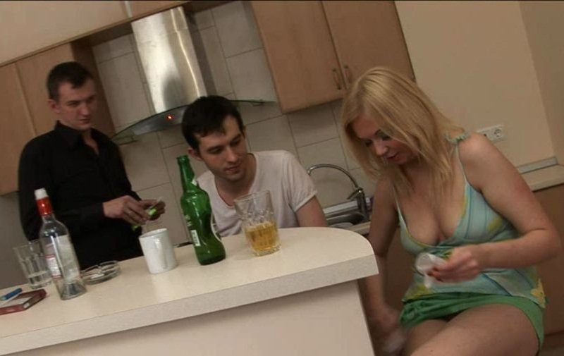 TheyDrunk: Yana - Two Guys Fucked Drunked Russian Girl 480p